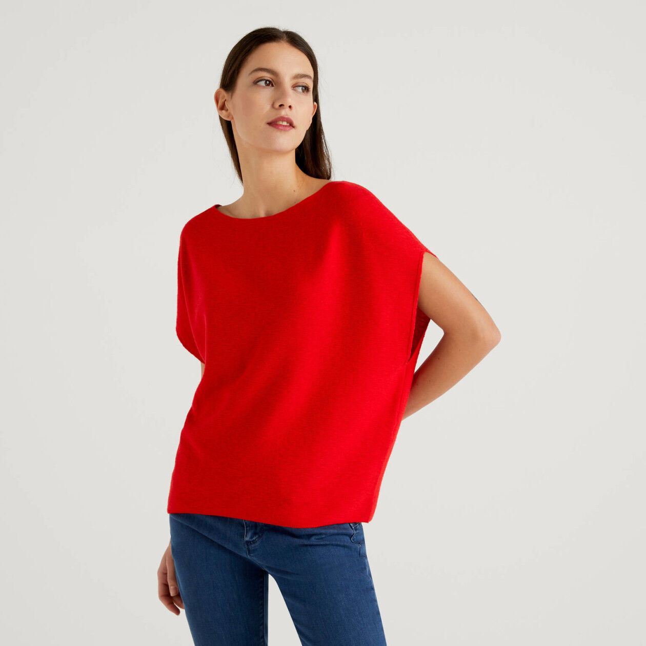 Pullover mit kurzen Ärmeln