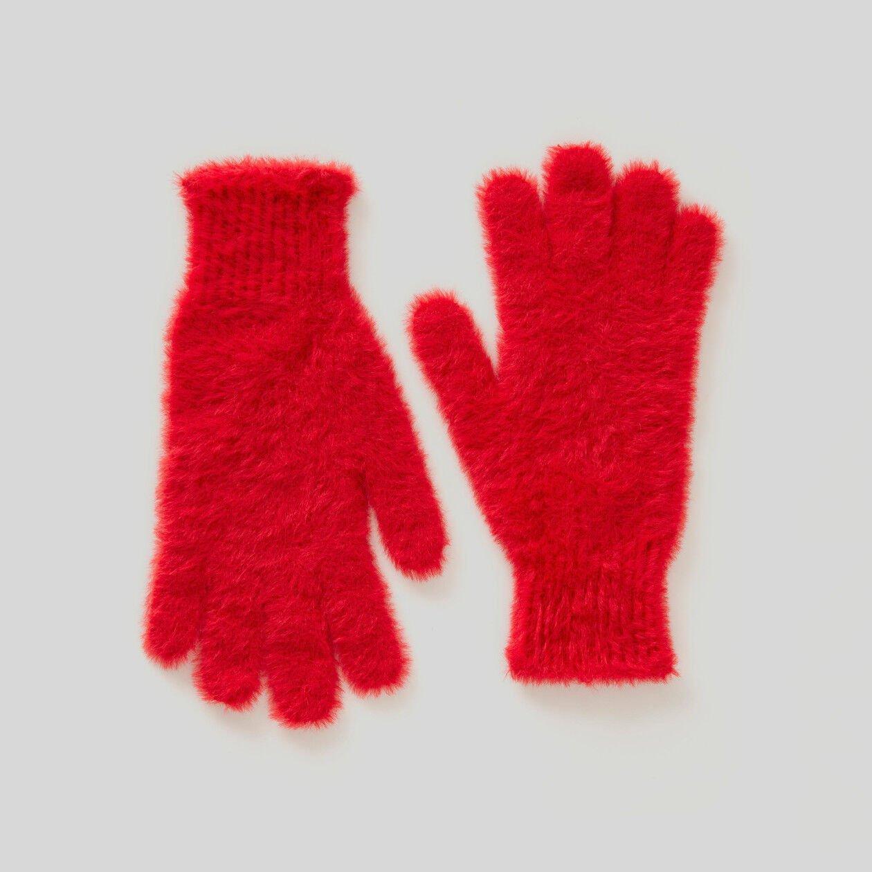 Handschuhe aus Langhaar-Garn