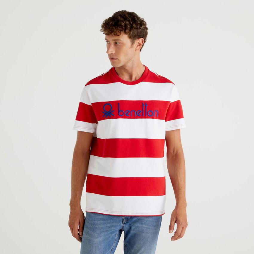 Gestreiftes T-Shirt aus 100% Bio-Baumwolle
