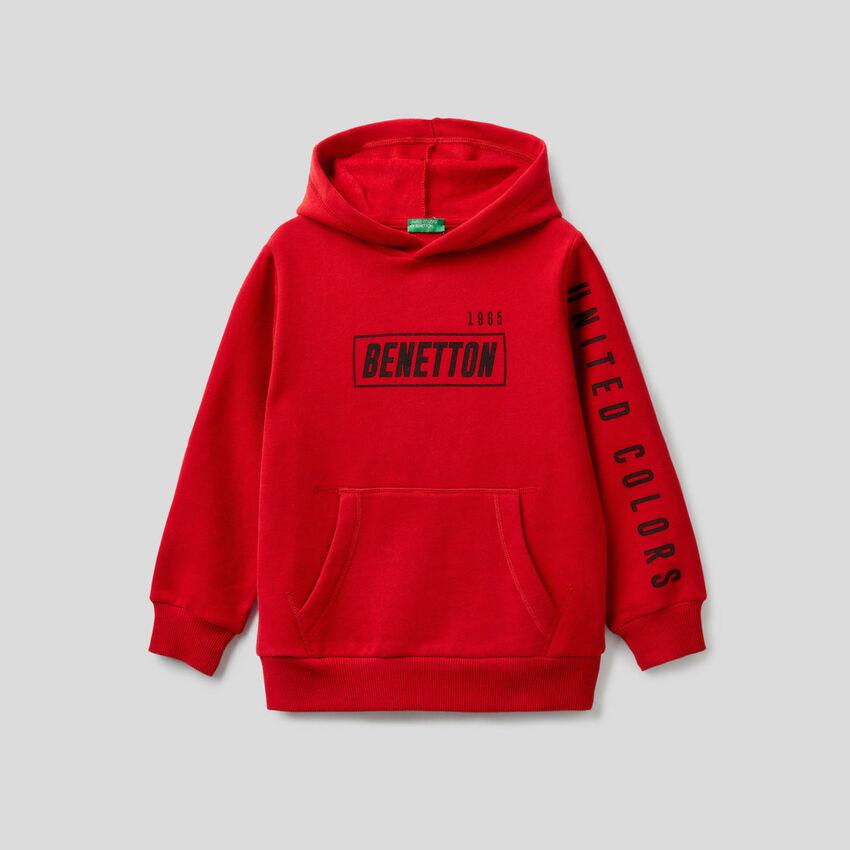 Kapuzen-Sweatshirt mit Maxi-Tasche