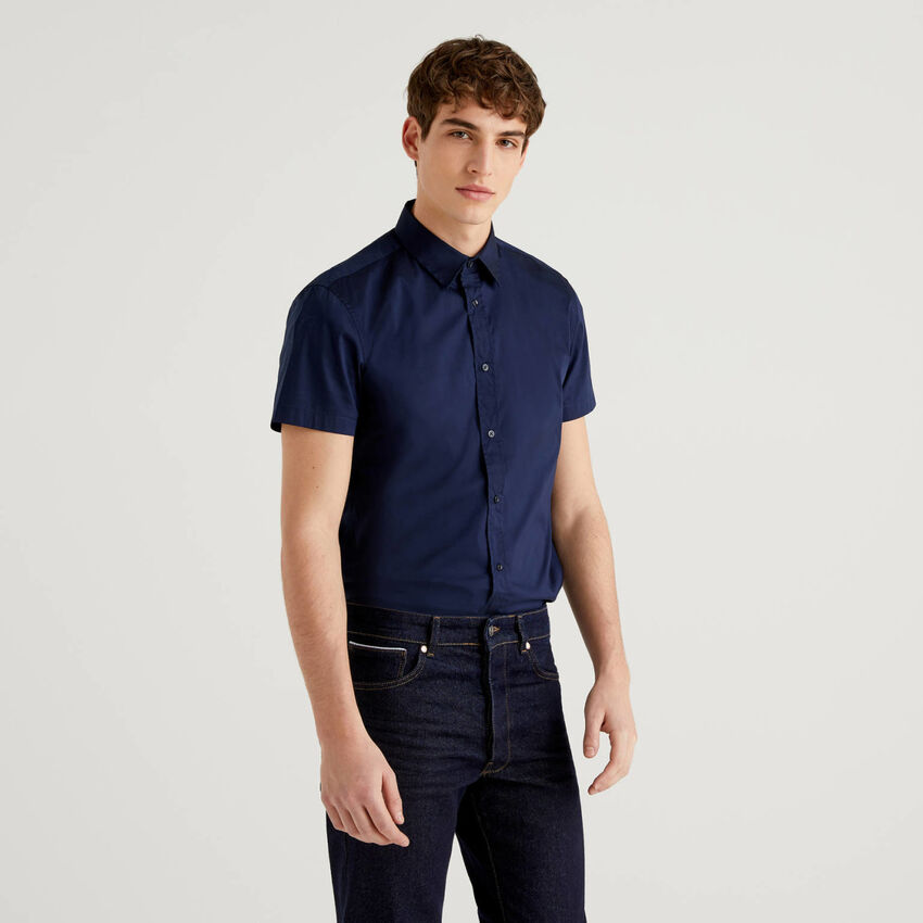 Slim-Fit-Hemd mit kurzen Ärmeln