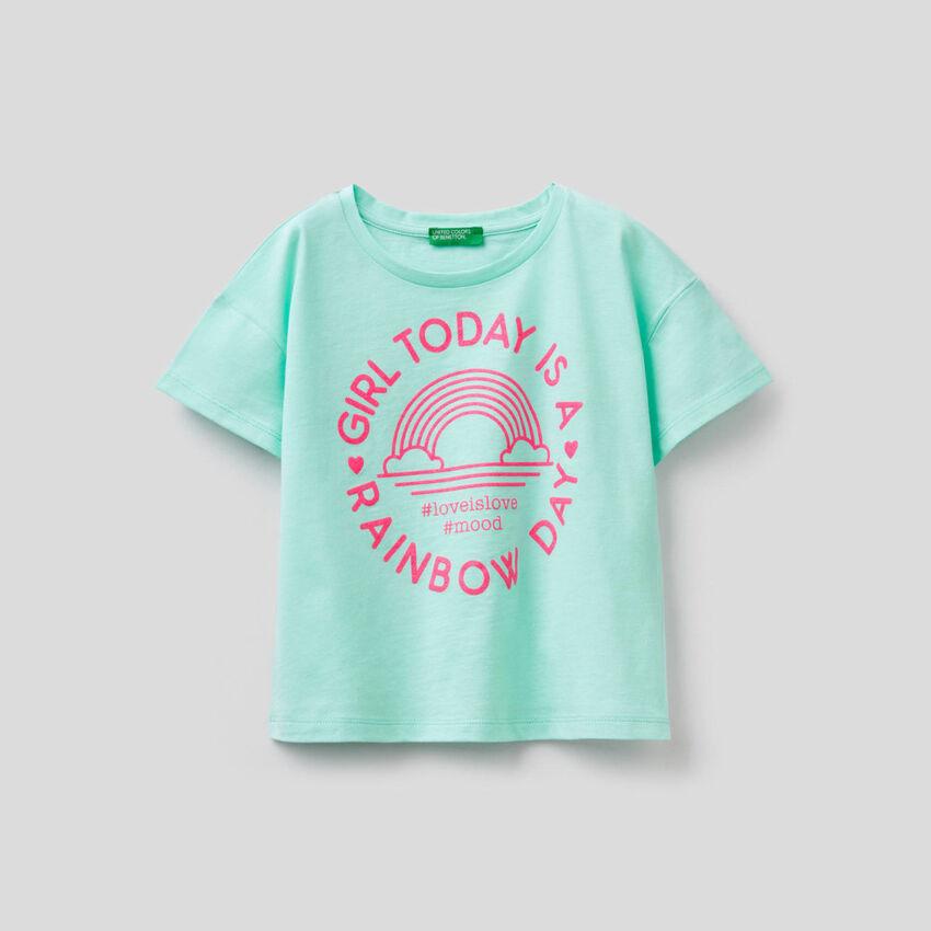 Boxy-T-Shirt aus reiner Baumwolle