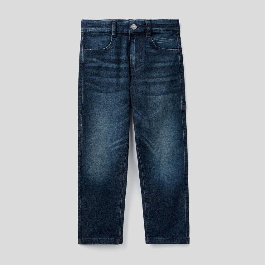 Jeans mit Details im Workwear-Stil