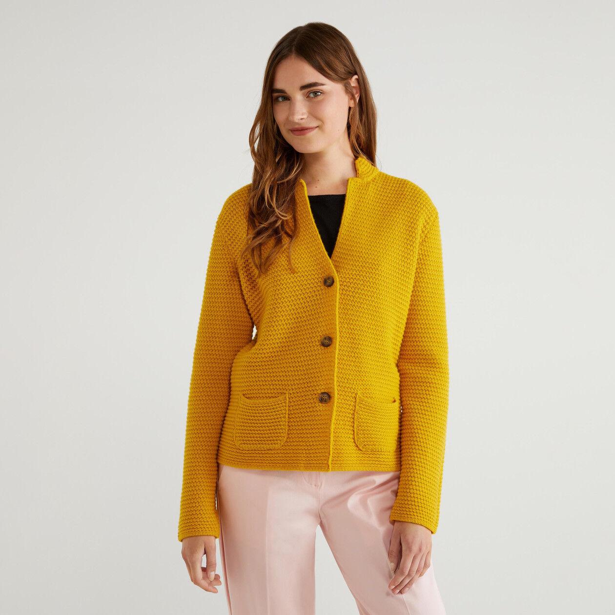 Jacke in einer Wollmischung