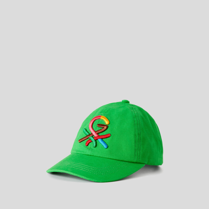 Grüne Mütze mit aufgesticktem Logo by Ghali