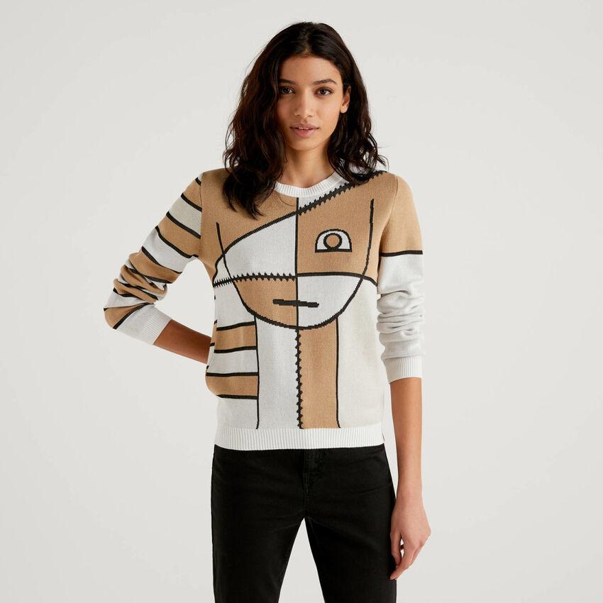 Pullover mit stilisiertem Muster