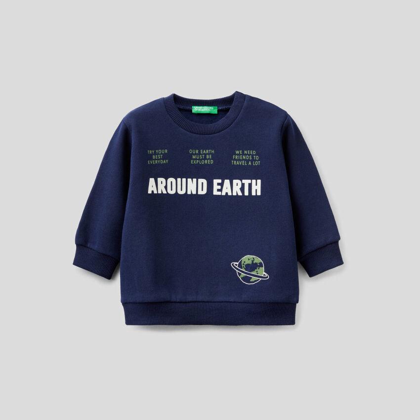 Sweatshirt mit Rundausschnitt und Print