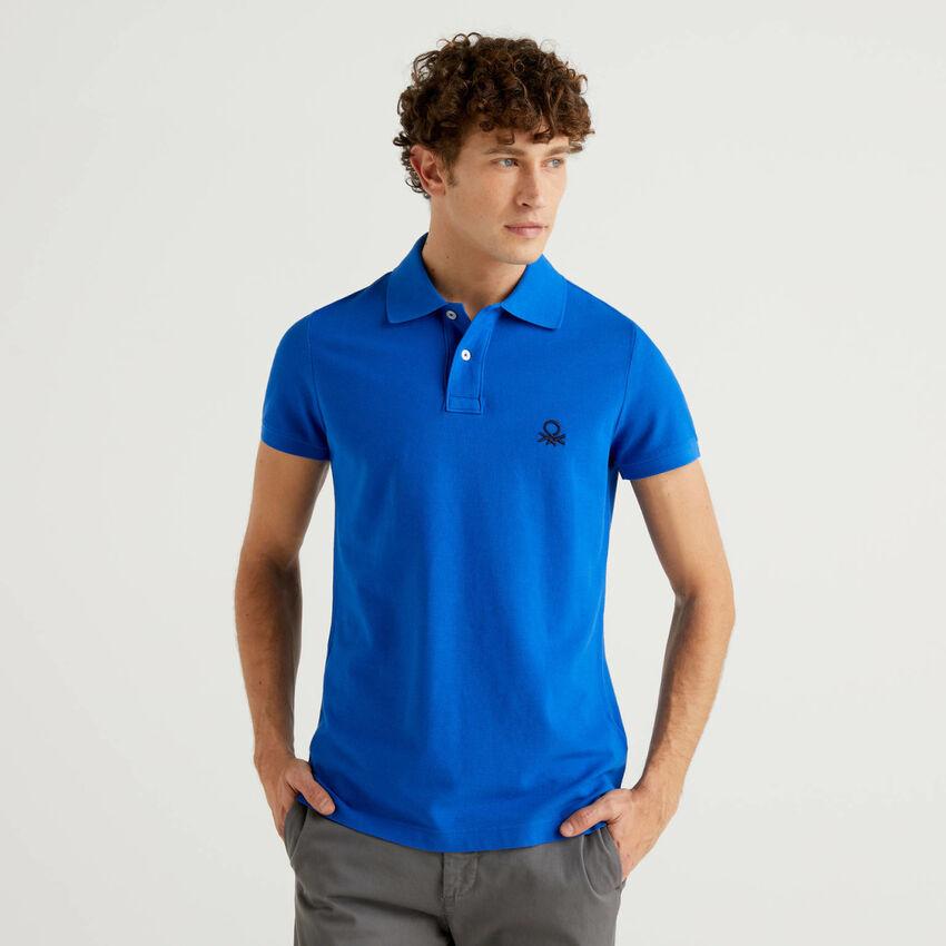 Slim-Fit-Polo in Bluette