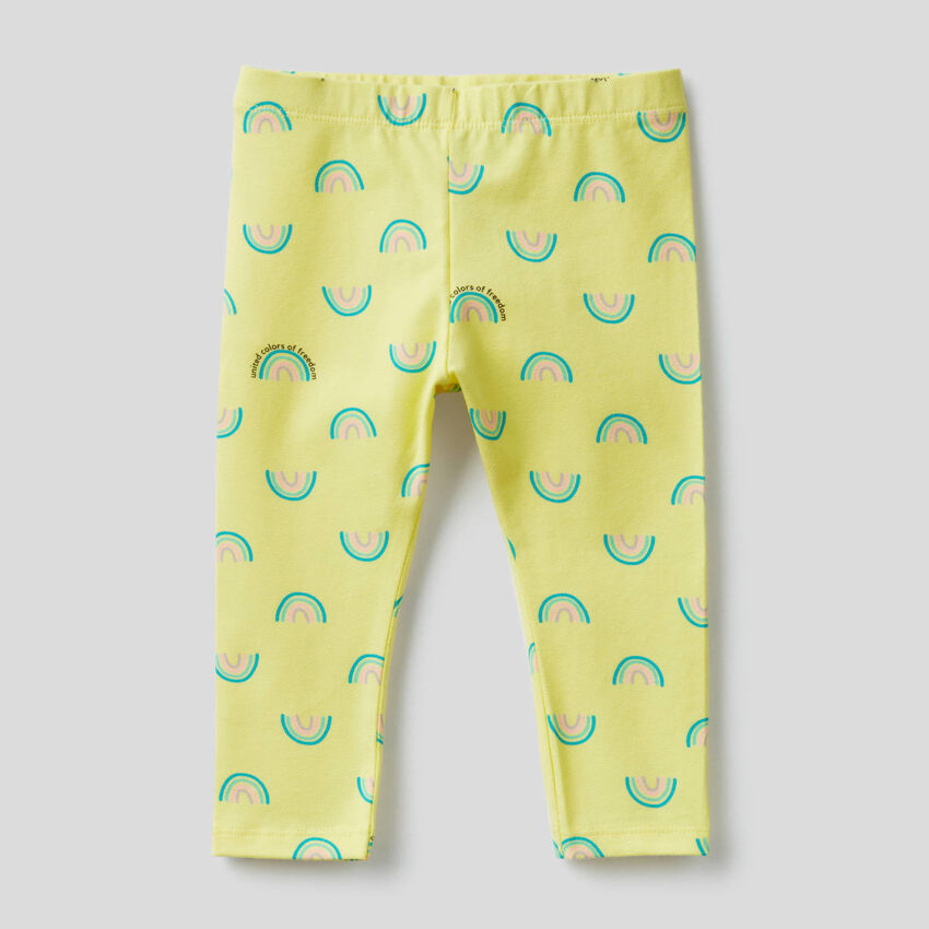 Leggings mit Print aus elastischer Baumwolle
