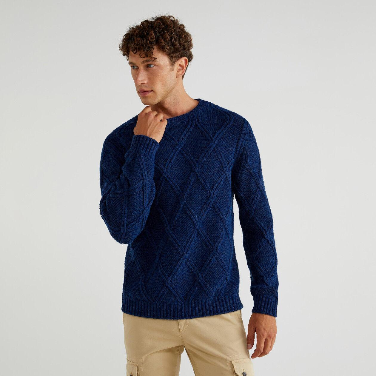 Pullover mit Rautenmuster