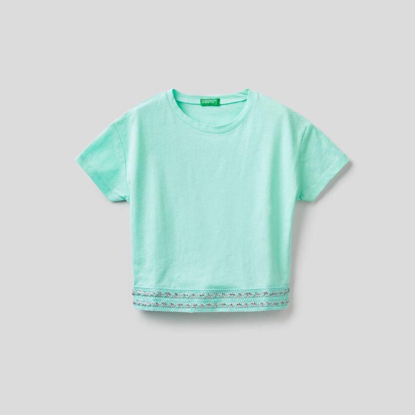 T-Shirt aus Baumwolle mit Cropped-Länge