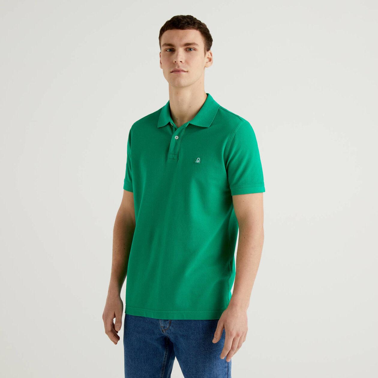 Grünes Regular-Fit-Polo