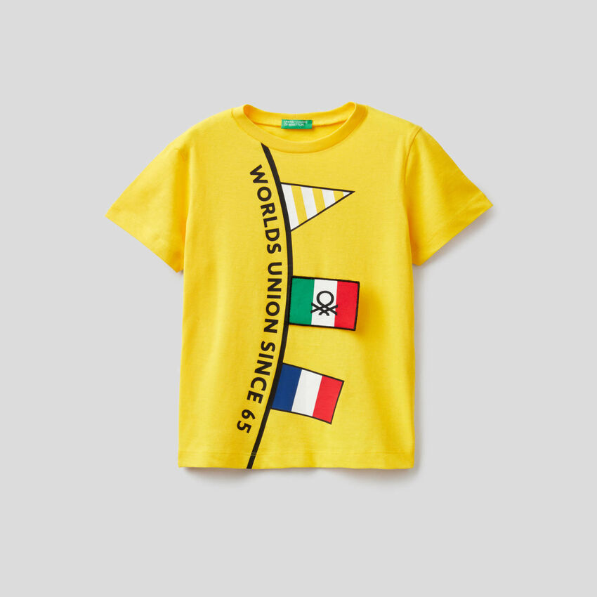 T-Shirt aus Baumwolle mit kurzen Ärmeln