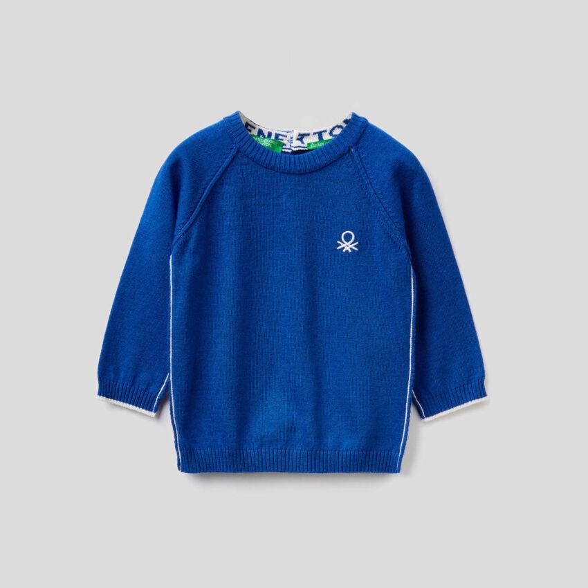 Sweatshirt mit Rundausschnitt und Raglanärmeln