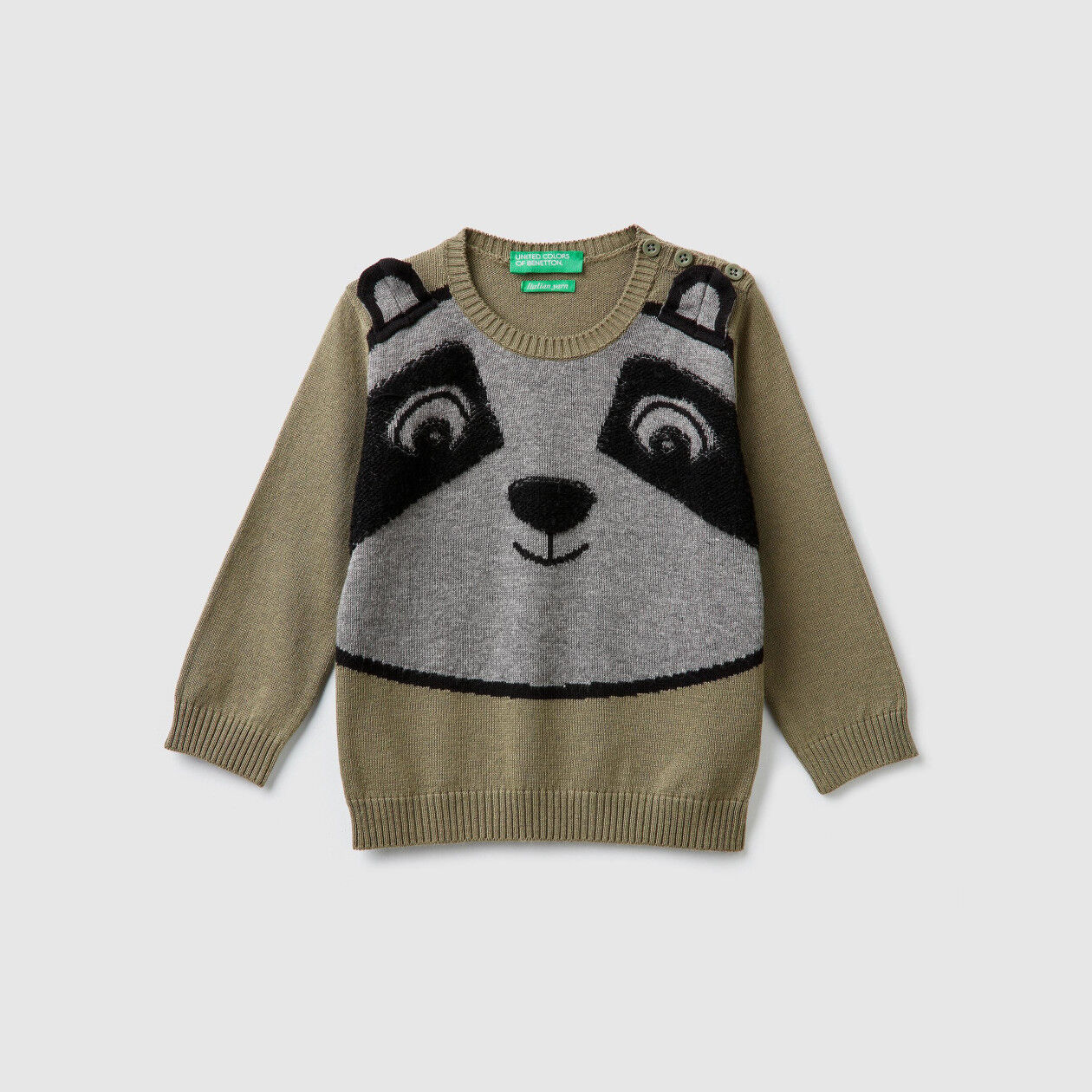 Pullover mit Intarsienarbeit in Tierform