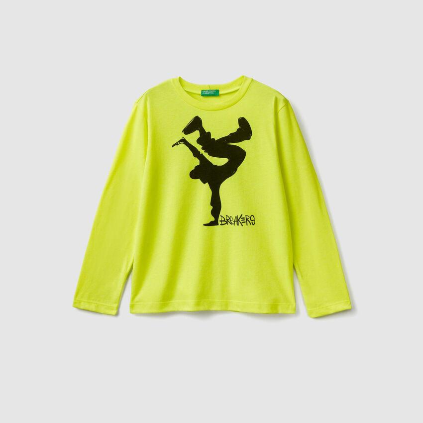 T-Shirt mit Neon-Details