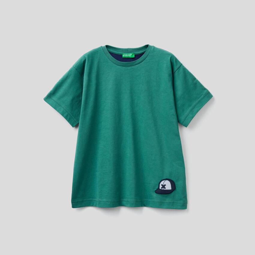 T-Shirt aus 100% Baumwolle mit Slogan