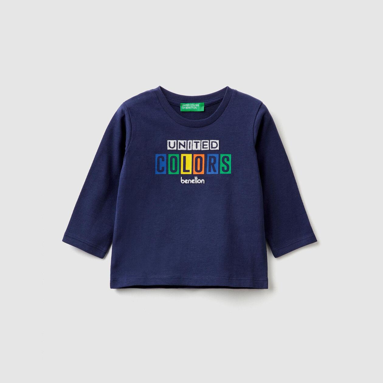 T-Shirt aus warmer Baumwolle mit Logo