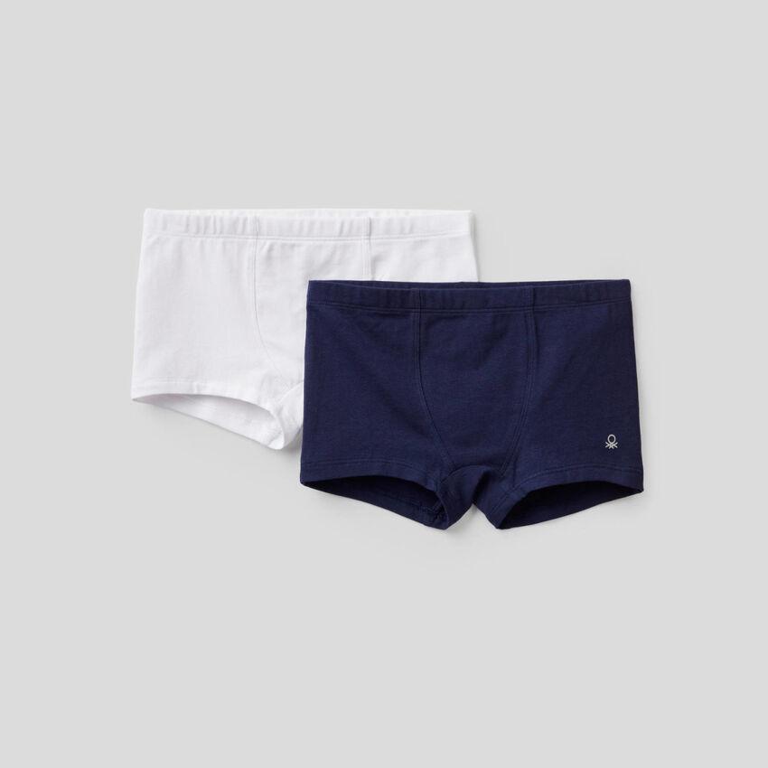 Zwei Boxershorts aus elastischer Baumwolle