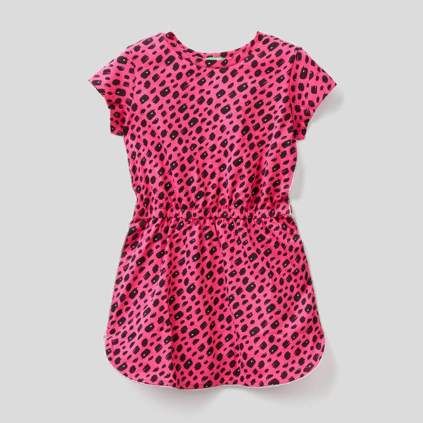Kleid aus reiner Baumwolle mit Print