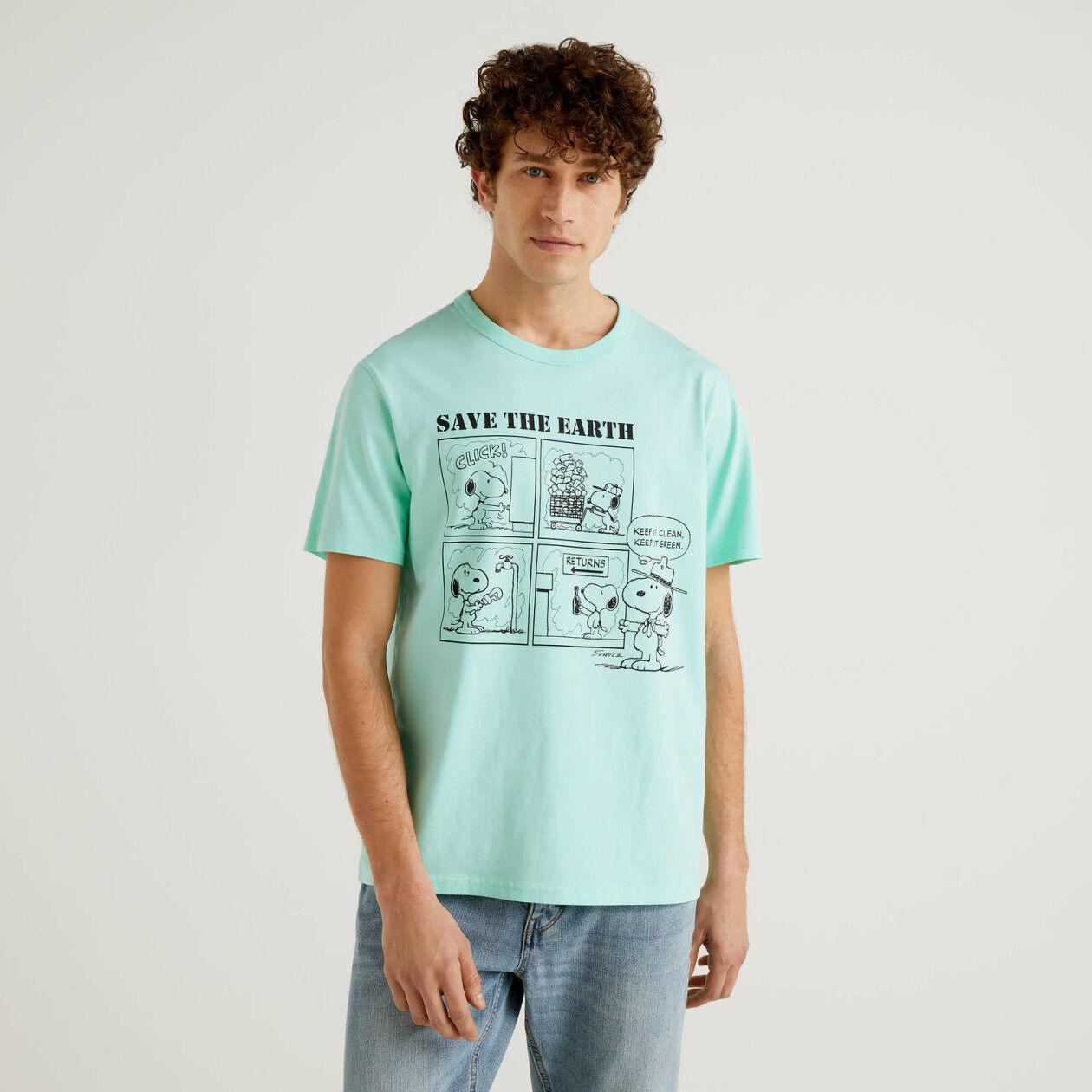 T-Shirt Peanuts in Grünblau