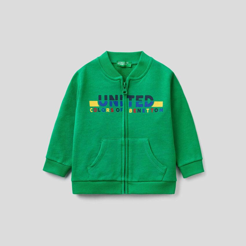 Grünes Sweatshirt aus Bio-Baumwolle