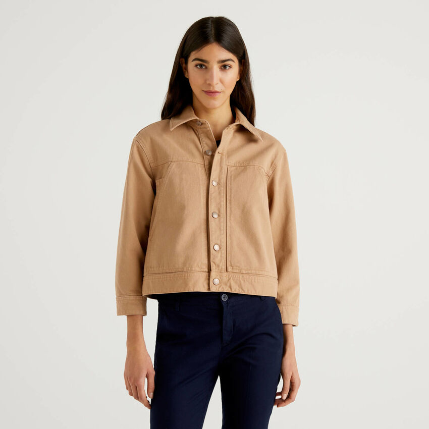 Jacke aus Denim in 100% Baumwolle
