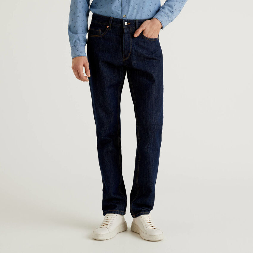 Straight-Leg-Jeans in 100% Baumwolle
