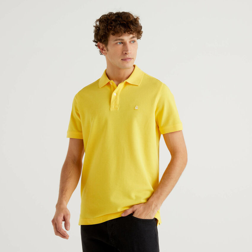 Regular-Fit-Polo in Gelb