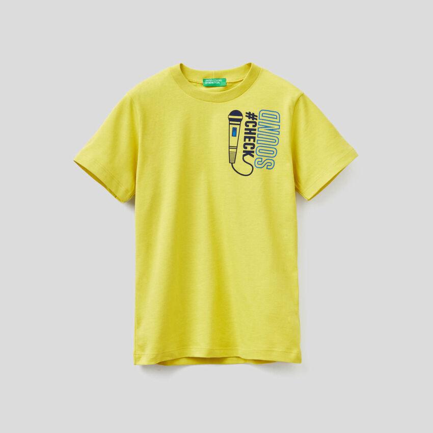 T-Shirt mit kurzen Ärmeln aus Bio-Baumwolle