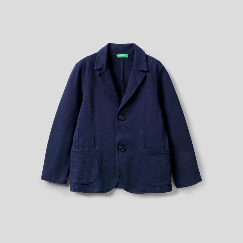 Jacke aus Sweatstoff in reiner Baumwolle