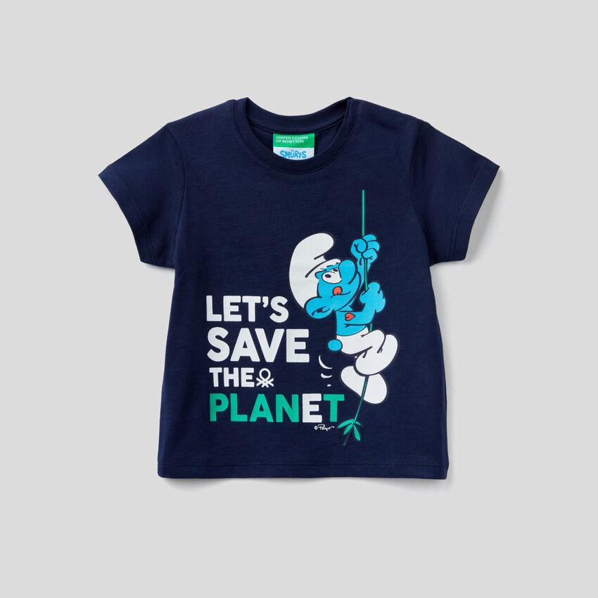 Boxy-T-Shirt mit Print von Die Schlümpfe