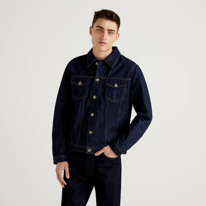 Jeansjacke aus 100% Baumwolle