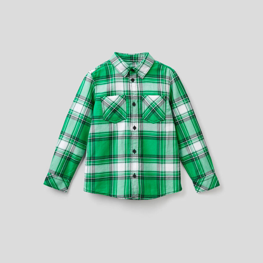 Hemd aus 100% Baumwolle mit Karomuster