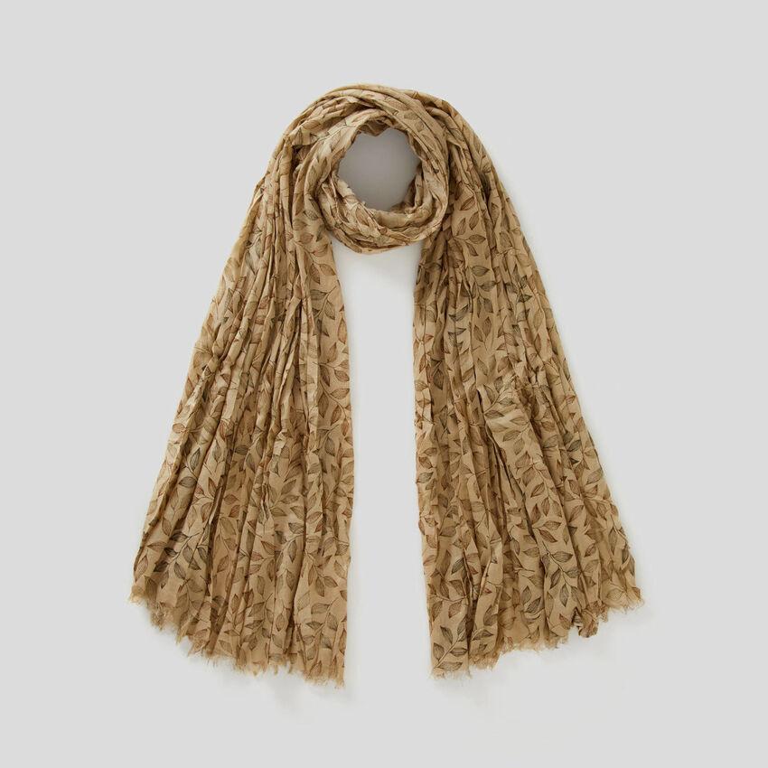Schal aus Viskose mit botanischem Print