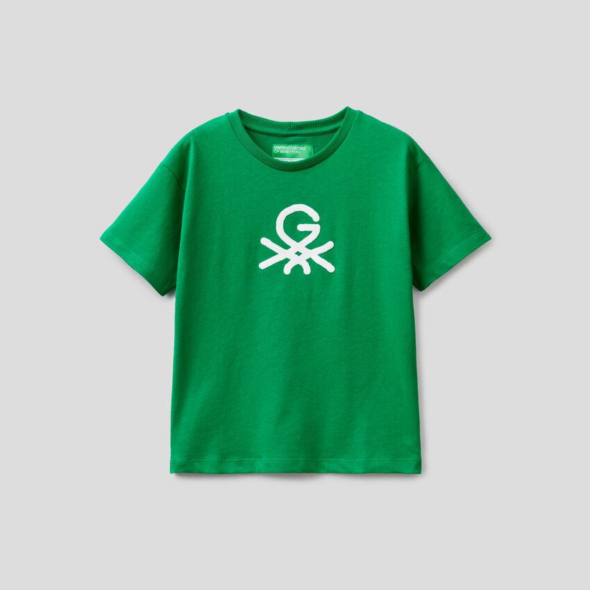 Grünes Unisex-T-Shirt mit Print by Ghali