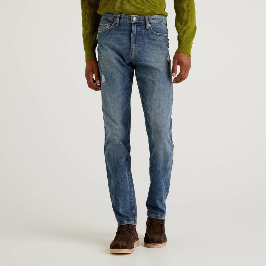 Five-Pocket-Jeans aus stretchiger Baumwolle