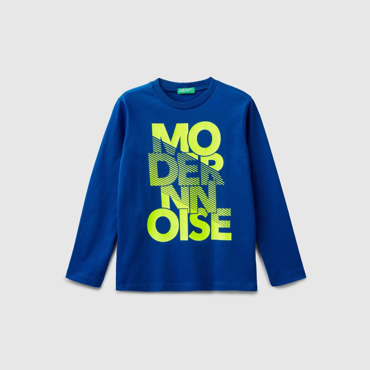 T-Shirt mit Neonprint