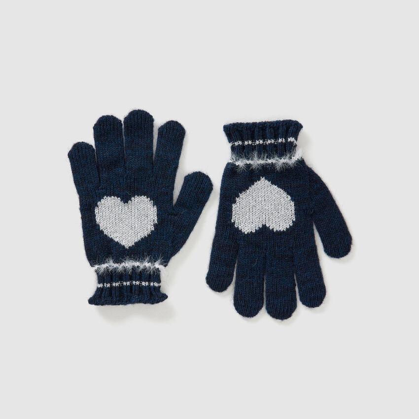 Handschuhe aus Wolle und Viskose