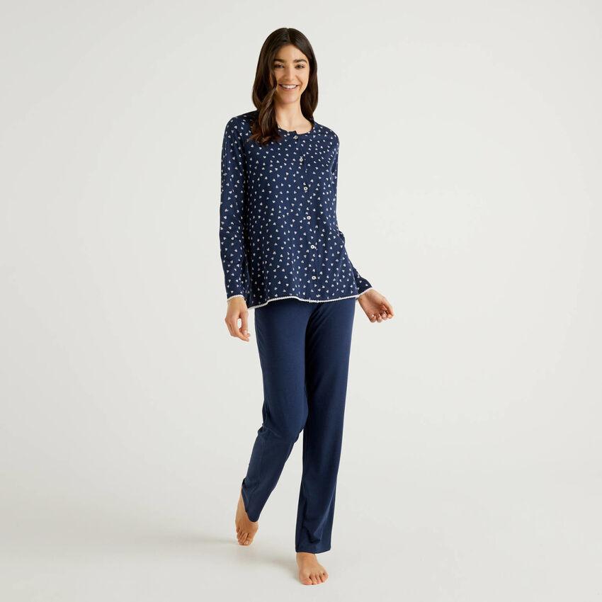 Pyjama mit offenem Shirt