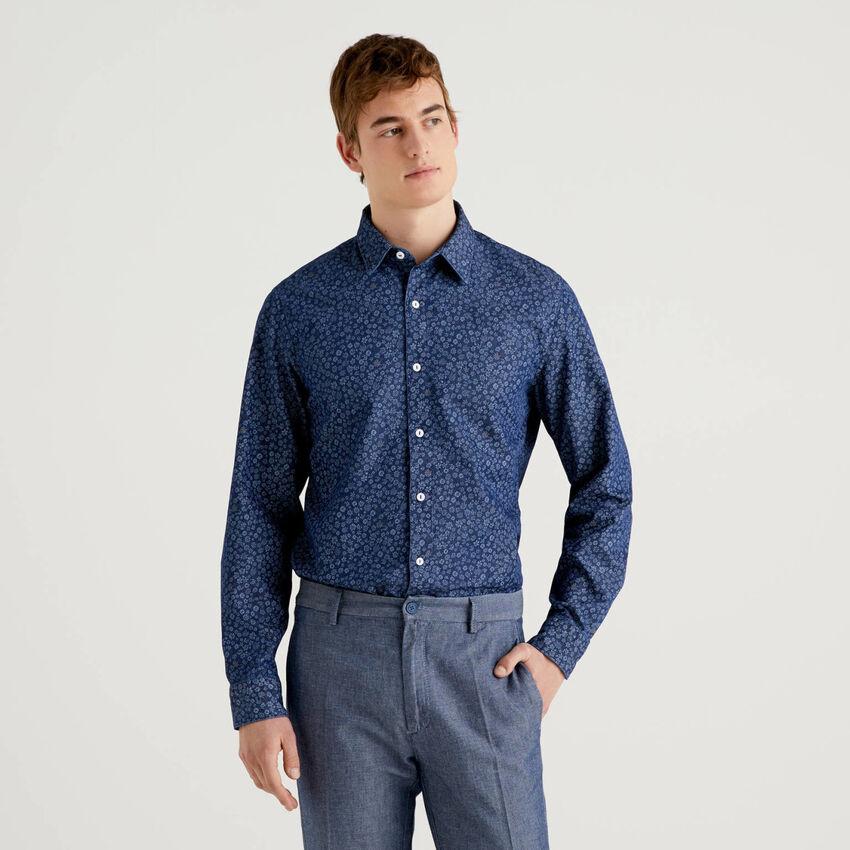 Hemd aus reiner Baumwolle mit Print