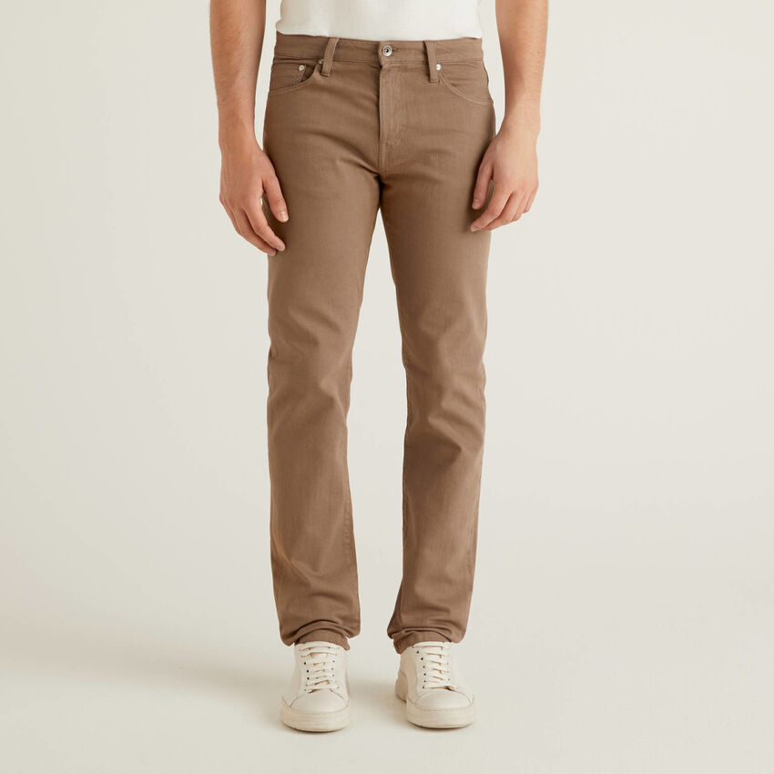 Five-Pocket-Hose aus stretchiger Baumwolle