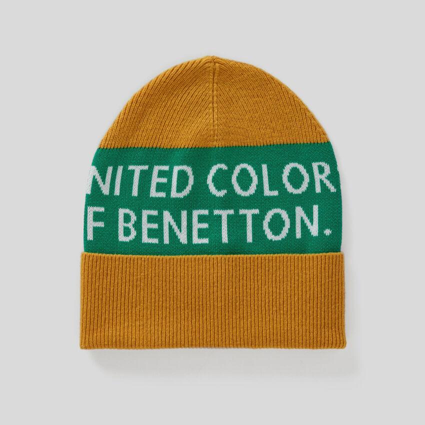 Mütze aus Baumwolle und Wolle