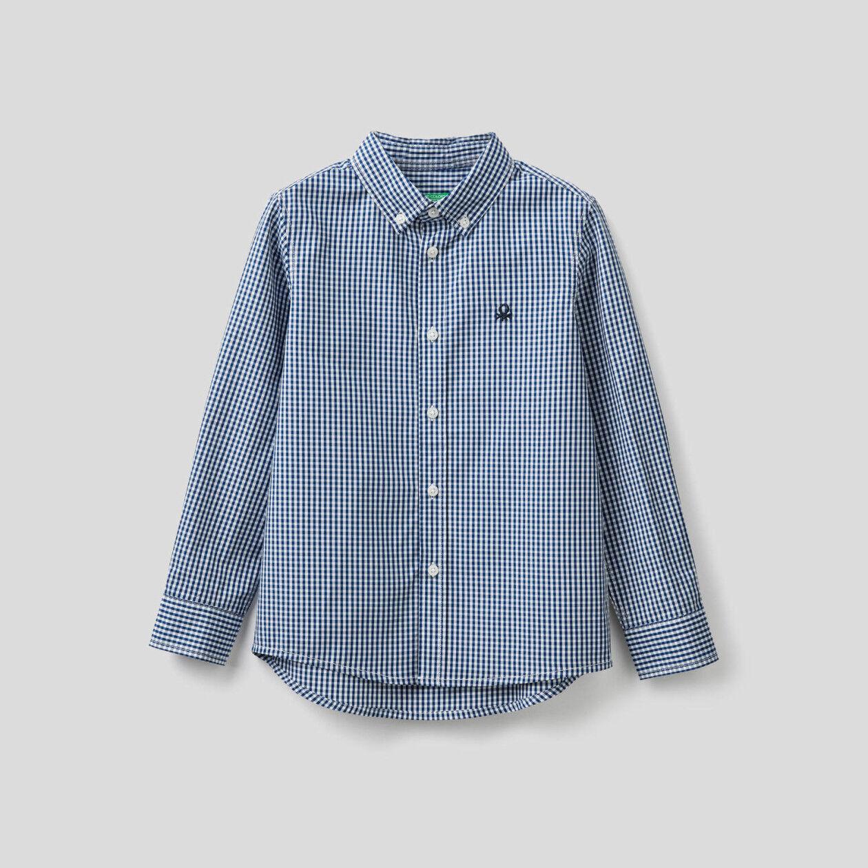 Sportliches Hemd aus reiner Baumwolle mit Vichy-Karo
