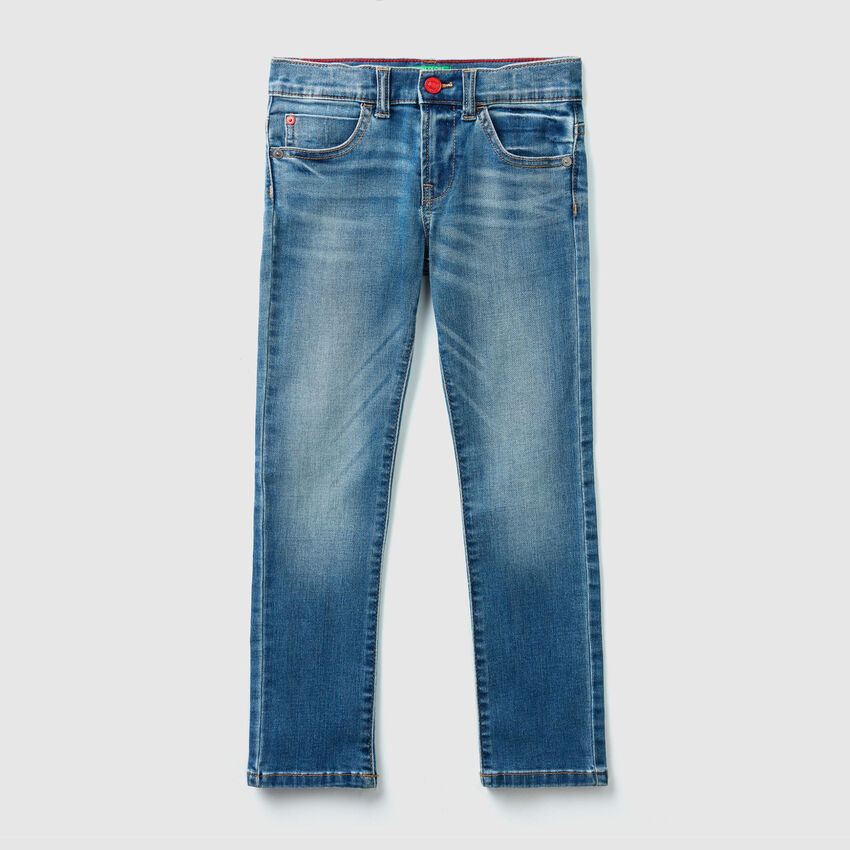 Slim-Fit Hose aus Denim