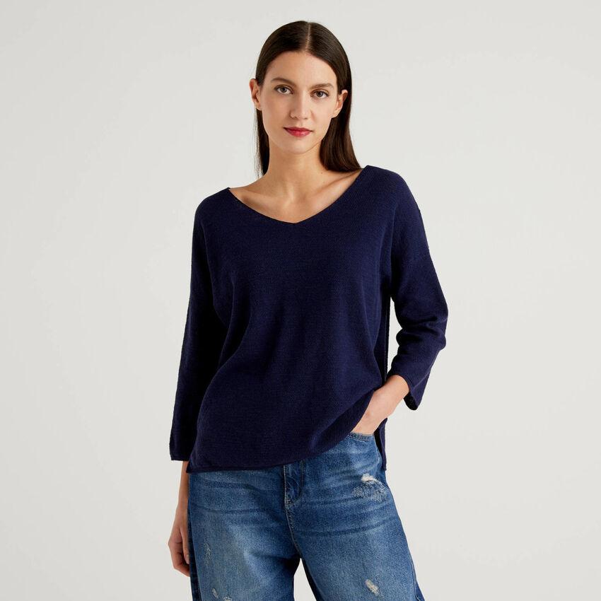 Pullover mit 3/4-Ärmeln