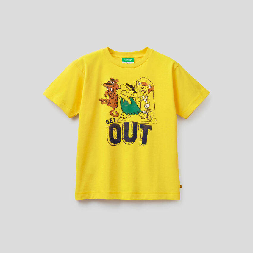 T-Shirt Familie Feuerstein aus Bio-Baumwolle