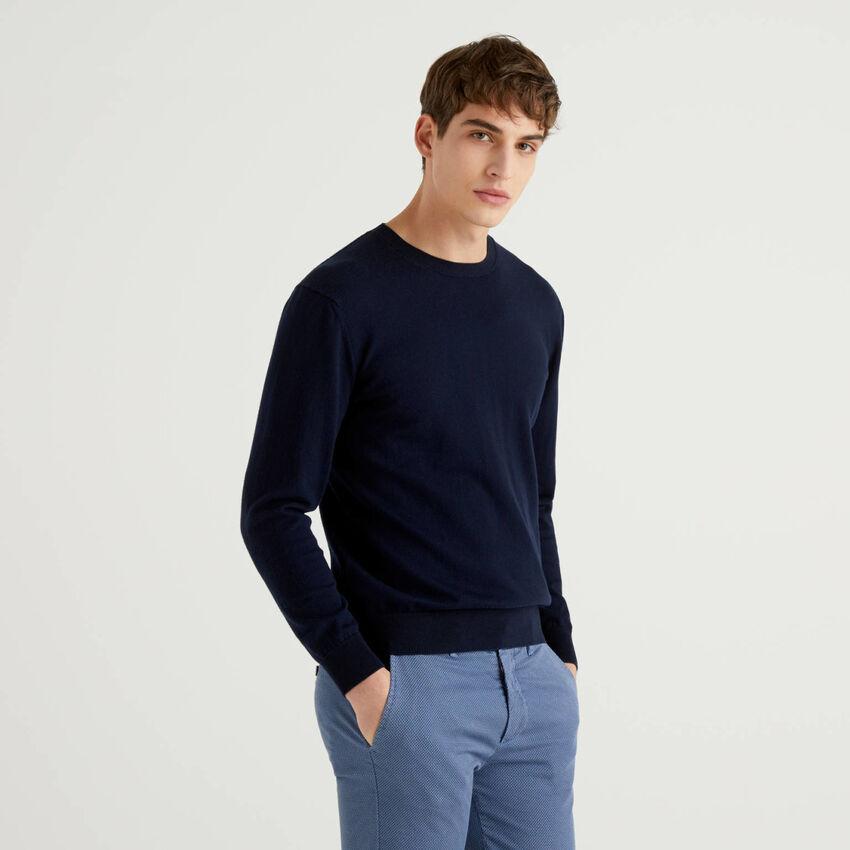 Pullover in einer Mischung aus Baumwolle und Cashmere