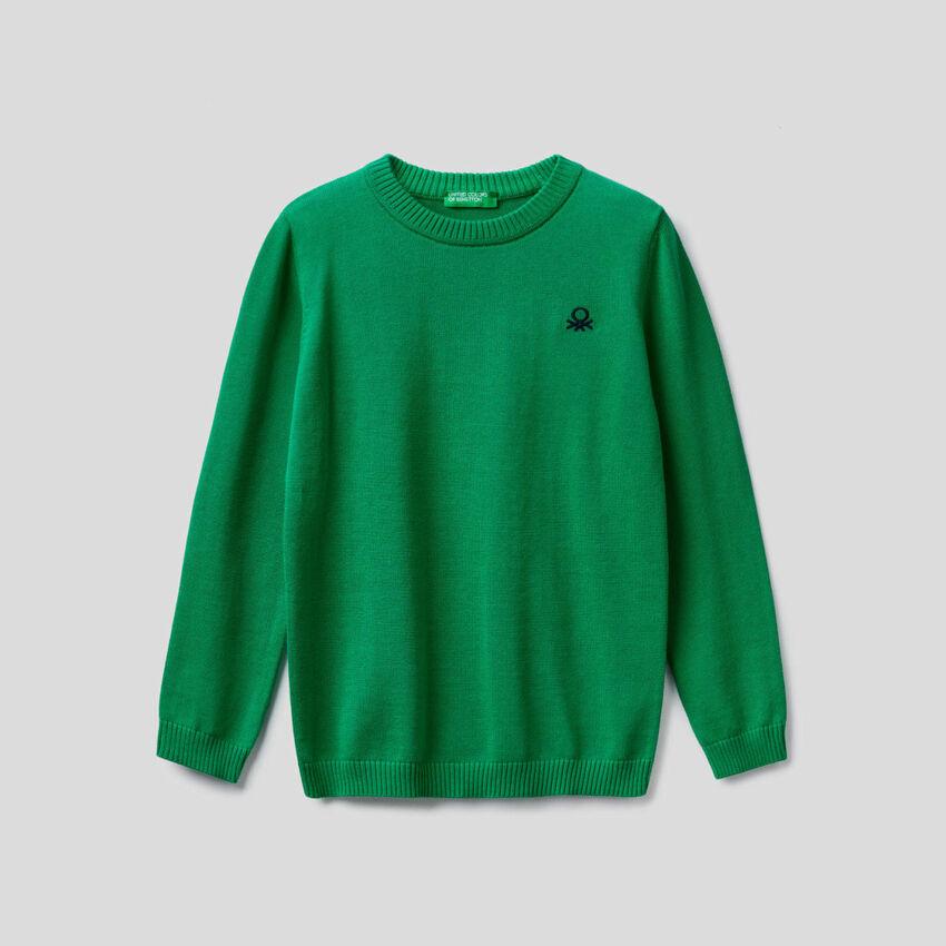 Pullover aus 100% Baumwolle mit Rundhals