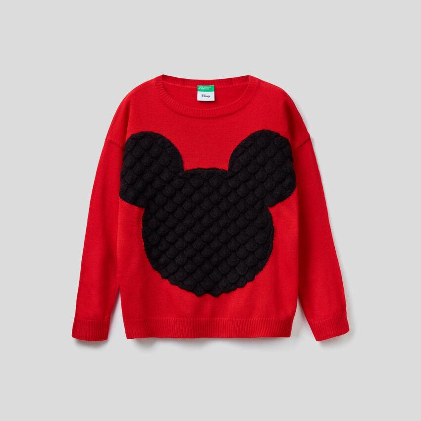 Pullover mit Micky Maus-Intransienarbeit